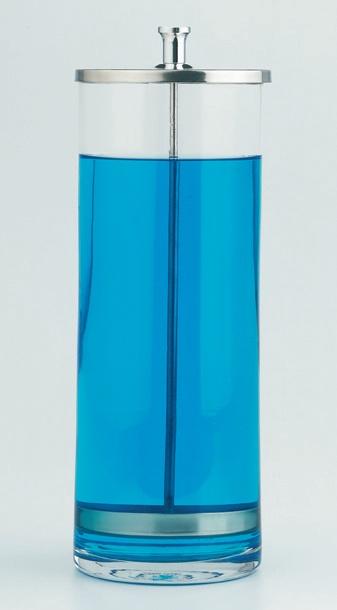 Hygiene Glas für Desinfektion