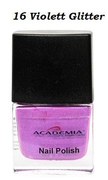 Nagellack 16 Violett Glitter 12ml