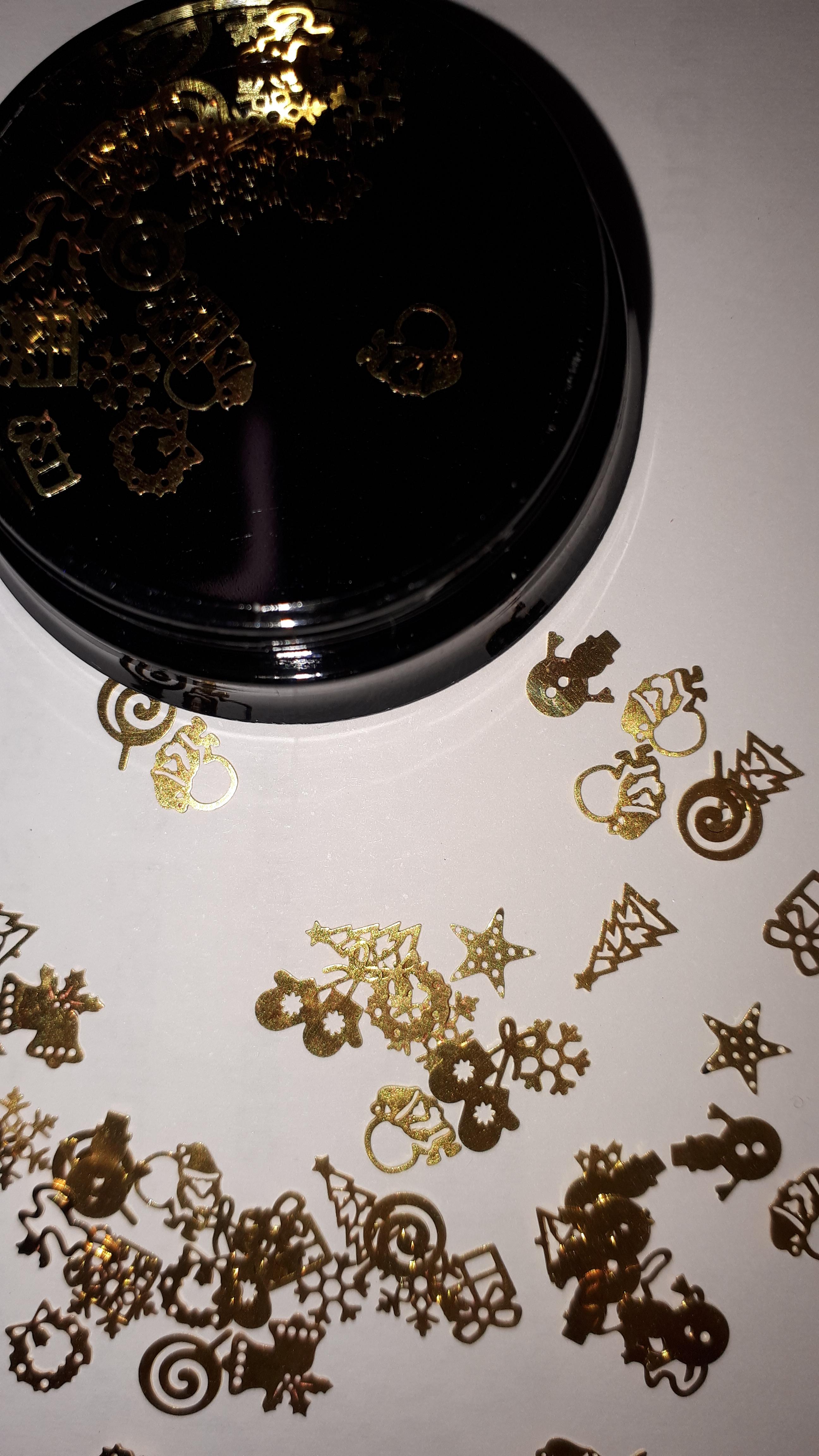 Weihnachtsmotive gold zum einlegen