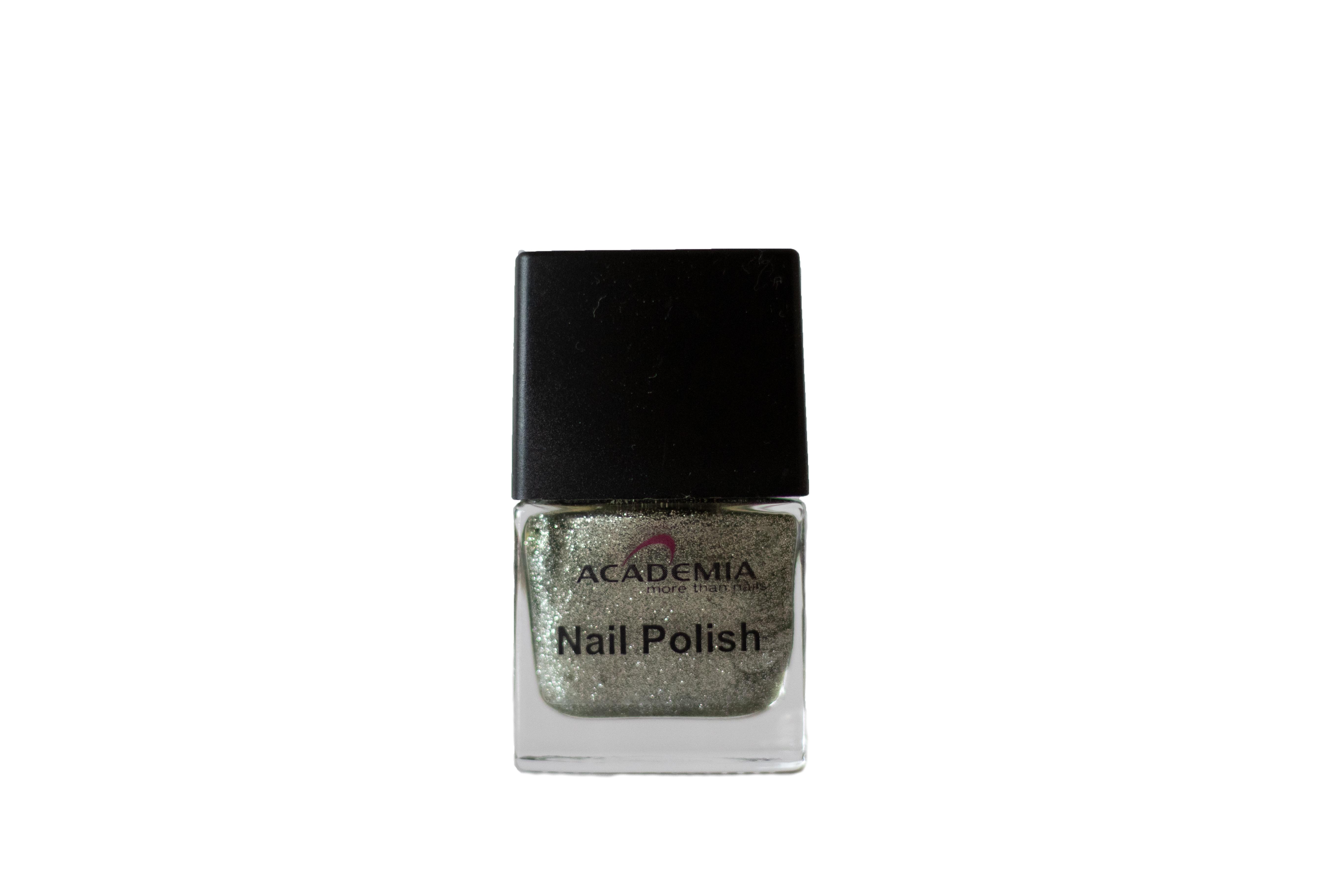 Nagellack Glitter silber 12 ml